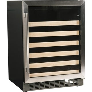 """Azure A124WC-S 24"""" Wine Cooler with Stainless Trim Glass Door"""