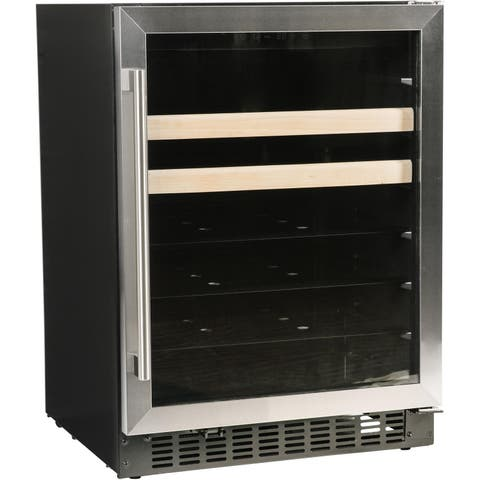 """Azure A124BEV-S 24"""" Beverage Center with Stainless Trim Glass Door"""