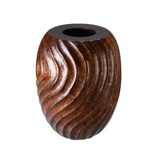 """Villacera 10"""" Cylinder Mango Wood Vase"""