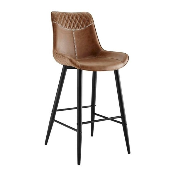 Cary Curved Scoop Seat Bar Stool