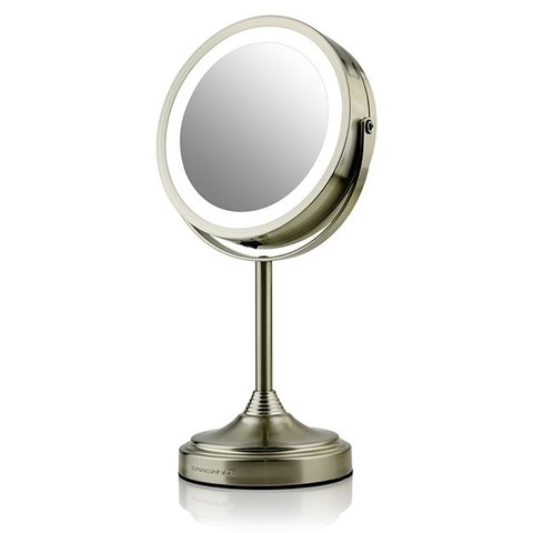 Ovente MCTR70BR LED Lighted Tabletop Makeup Mirror 1x/7x Magnification