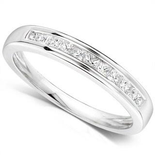 Annello by Kobelli 14k Gold 1/4ct TDW Princess Diamond Wedding Band