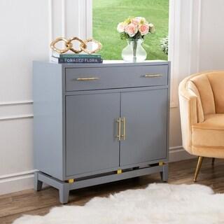 Abbyson Campari Powder Blue Accent Cabinet