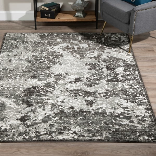 "ADDISON Ellis Nebulous Shades of Grey Area Rug 5'3""X7'7"""