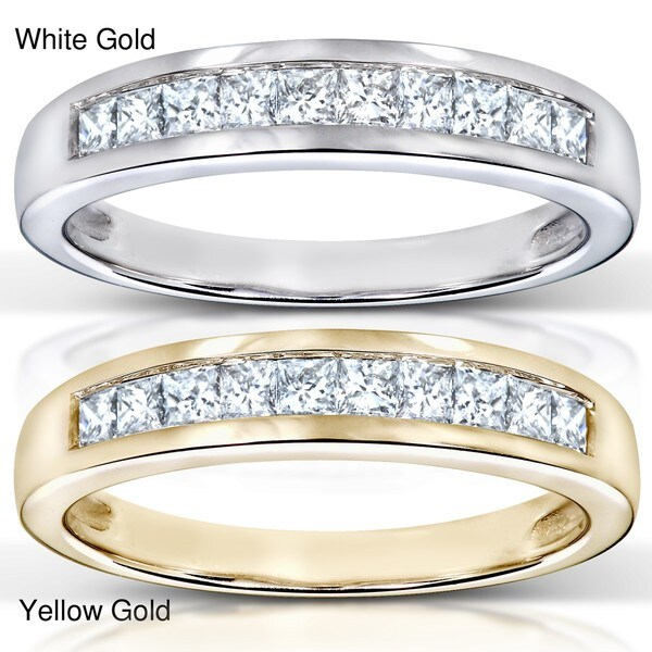 Annello by Kobelli 14k Gold 1/3ct TDW Diamond Semi-eternity Band