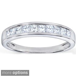 Annello by Kobelli 14k Gold 1/2ct TDW Princess Diamond Wedding Band (H-I, I1-I2)