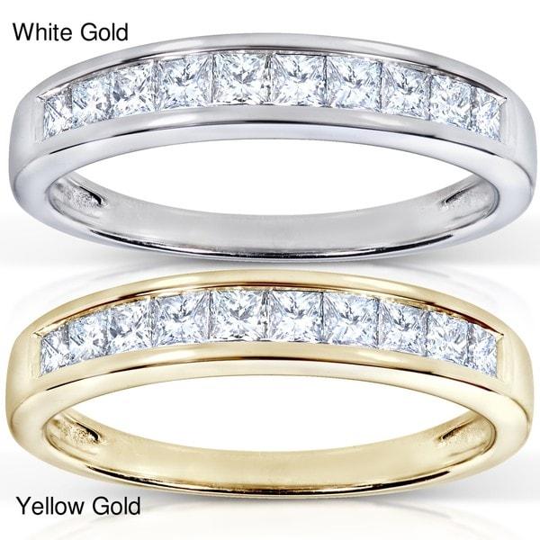 Annello by Kobelli 14k Gold 1/2ct TDW Princess Diamond Wedding Band