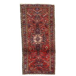 """Pasargad DC Semi-Antique Persian Heriz Hand-Knotted Rug - 2'10"""" x 6'"""