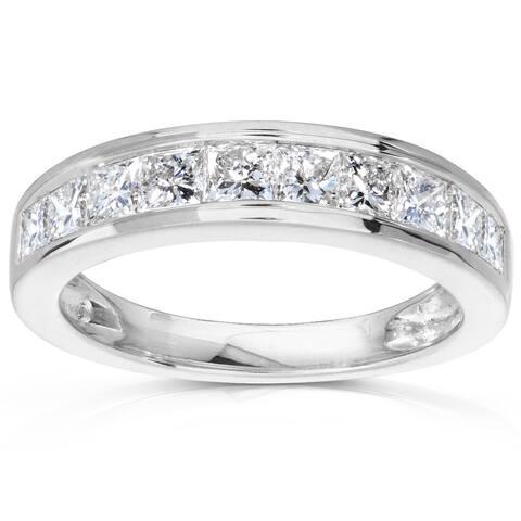 Annello by Kobelli 14k Gold 1ct TDW Channel Princess Diamond Wedding Band (GH/SI)