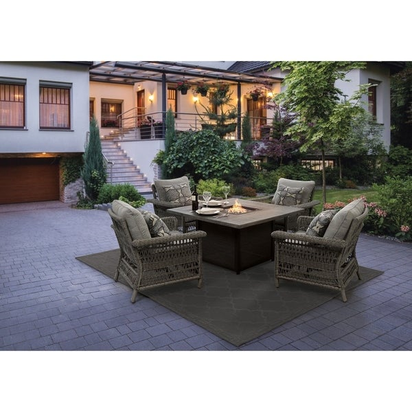 Shop 5pcs Fire Pit Set On Sale Free Shipping Today Overstock