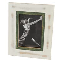 Wooden Tabletop Photo Frame With Distressed Marks