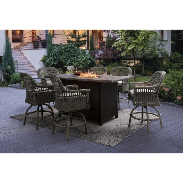 Shop 7pcs Fire Pit Set On Sale Free Shipping Today Overstock