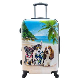 Chariot Kona Dogs 20-Inch Hardside Lightweight Spinner Carry-On Suitcase