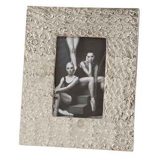 Silver Picture Frame With Circular Finish