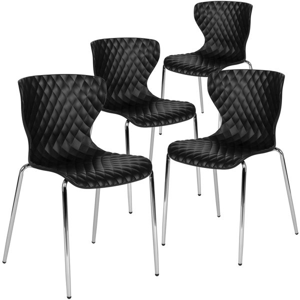 4PK Contemporary Design Plastic Stack Chair