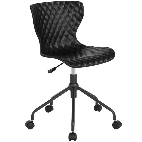 Contemporary Design Mid-Back Plastic Swivel Task Office Chair