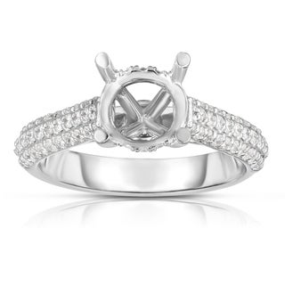 Noray Designs 14K Gold Diamond (0.48 Ct, G-H Color, SI2-I1 Clarity) Semi-Mount Ring
