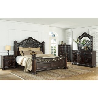 Manchester Traditional Low Post 4PC Bedroom Set by Greyson Living