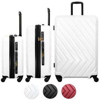 V1969 Italia 3 Piece Expandable Hardside Spinner Luggage Set, TSA Lock