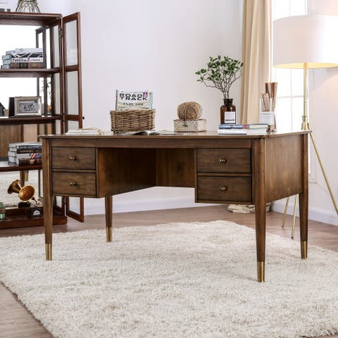 Carson Carrington Pilos Rustic Antique Oak Writing Desk