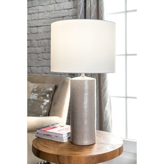 "Watch Hill 28'' Faye Ceramic Linen Shade Table Lamp - 28"" h x 15"" w x 15""d"