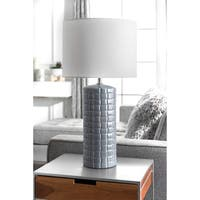 """Watch Hill 29'' Delicia Ceramic Linen Shade Table Lamp - 29"""" h x 15"""" w x 15""""d"""