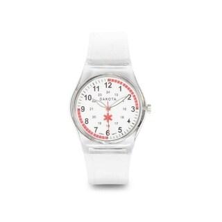 Dakota Easy Clean Translucent Plastic Nurse Watch