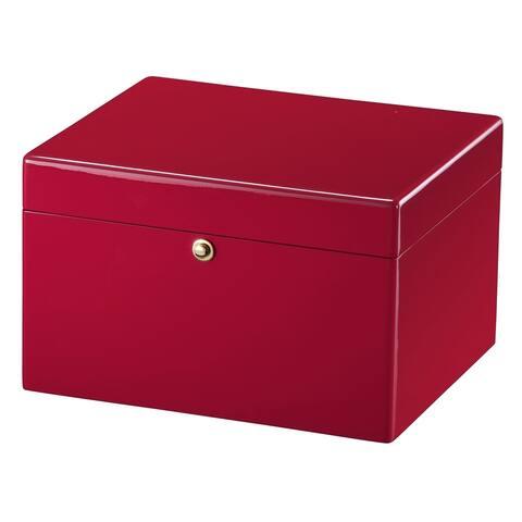Howard Miller Iridescent Red Wood Urn Box