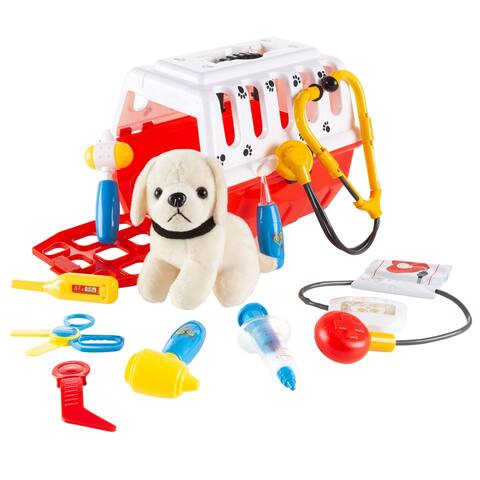 Hey! Play! Kids Veterinary Set-11 Piece with Animal Medical Supplies