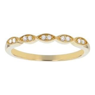 10K Yellow Gold 1/14ct. Diamonds Women's Wedding Band Ring