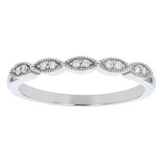Link to 10K White Gold 1/14ct. Diamonds Women's Wedding Band Ring by Beverly Hills Charm Similar Items in Wedding Rings