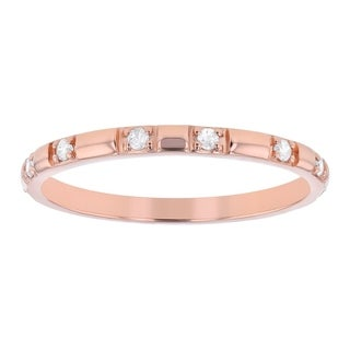 Link to 10K Rose Gold 1/10ct. Diamonds Women's Wedding Band Ring by Beverly Hills Charm Similar Items in Wedding Rings