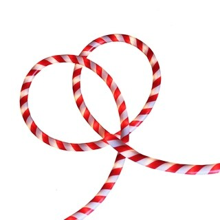 18' Red and White Candy Cane Stripe Indoor/Outdoor Xmas Rope Lights
