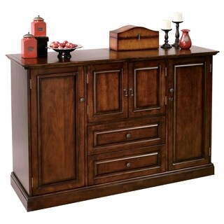 Howard Miller Bar Devino Elegant, Vintage Style, Foyer Liquor or Wine Cabinet, Buffet Sideboard, or Media Cabinet