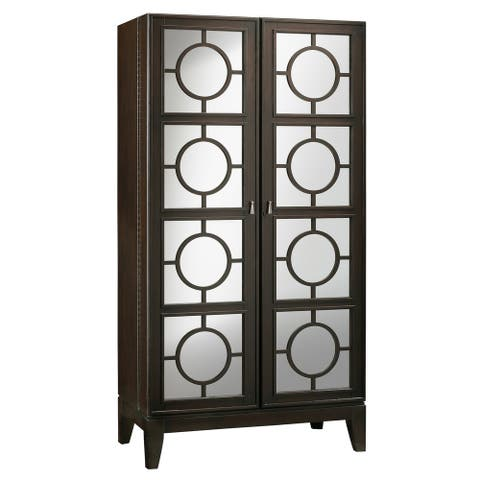 Howard Miller Barolo Solid Wood Liquor and Wine Cabinet - 73.5 in. high x 38 in. wide x 20.75 in. deep