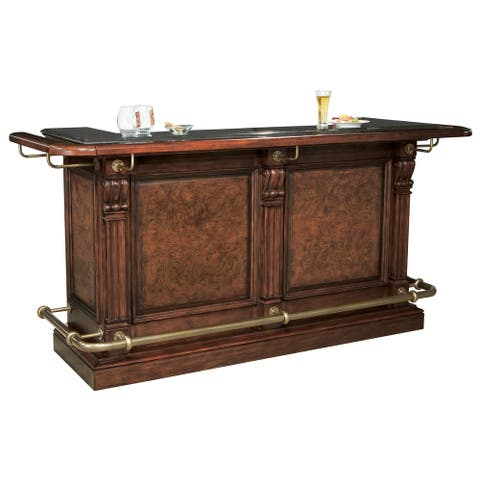 Howard Miller Cheers Bar Vintage, Old-fashioned, Charming Style, Liquor or Wine Cabinet, Pub Storage with Foot Rails - N/A