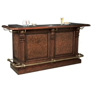 Howard Miller Cheers Bar Vintage, Old-fashioned, Charming Style, Liquor or Wine Cabinet, Pub Storage with Foot Rails