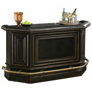 Howard Miller Northport Vintage, Charming, Old-fashioned Style, Liquor or Wine Bar Table, Sideboard with Foot Rails