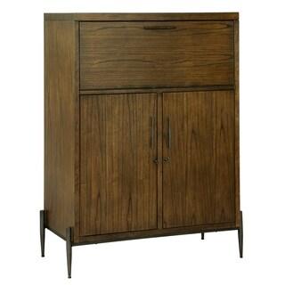 Howard Miller Open Cellar Modern Industrial Style, Foyer Liquor or Wine Cabinet, Buffet Sideboard, or Media Cabinet