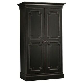 Howard Miller Sambuca Vintage, Sleek, Old-fashioned, Tall Wardrobe Style, Foyer Liquor Wine Cabinet, Sideboard, or Media Center