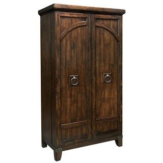 Howard Miller Rogue Valley Vintage, Old World Style, Tall Wardrobe Style Foyer Liquor Wine Cabinet, Sideboard, or Media Cabinet
