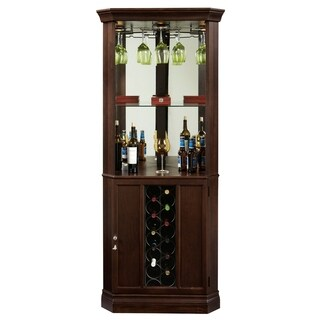 Howard Miller Piedmont III Espresso Wood/ Glass Liquor or Wine Cabinet