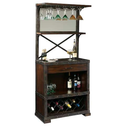 Howard Miller Red Mountain Vintage, Old World Style, Distressed Foyer Liquor or Wine Cabinet, Buffet Sideboard, or Media Cabinet