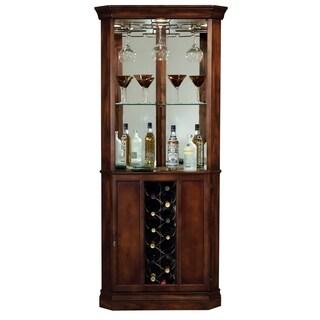 Howard Miller Piedmont Cherry Wood and Glass Liquor Cabinet