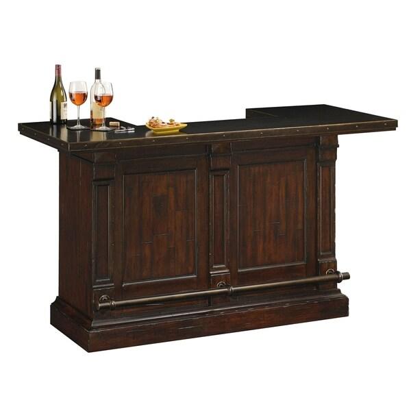 Howard Miller Harbor Springs Brown Wood/Metal Liquor/Wine Cabinet