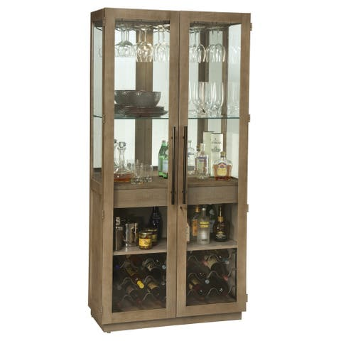 Howard Miller Chaperone II Contemporary Farmhouse Style, Foyer Liquor or Wine Cabinet, Buffet Sideboard, or Media Cabinet - N/A