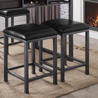 Shop Furniture Of America Retro Sleek Bar Stool Set Of 2