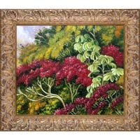 Marianne North 'A Bank of Quaresma and Trumpet Trees, Brazil' Hand Painted Oil Reproduction