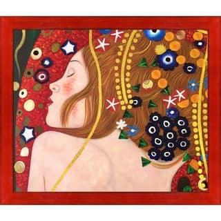 Gustav Klimt 'Sea Serpents IV' (Luxury Line) Hand Painted Oil Reproduction