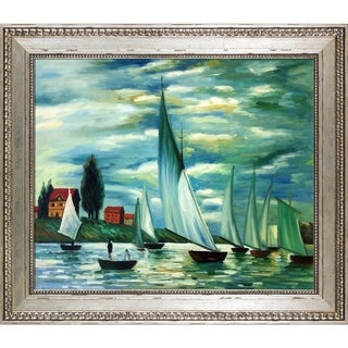 Claude Monet 'Regates at Argenteuil' Hand Painted Oil Reproduction